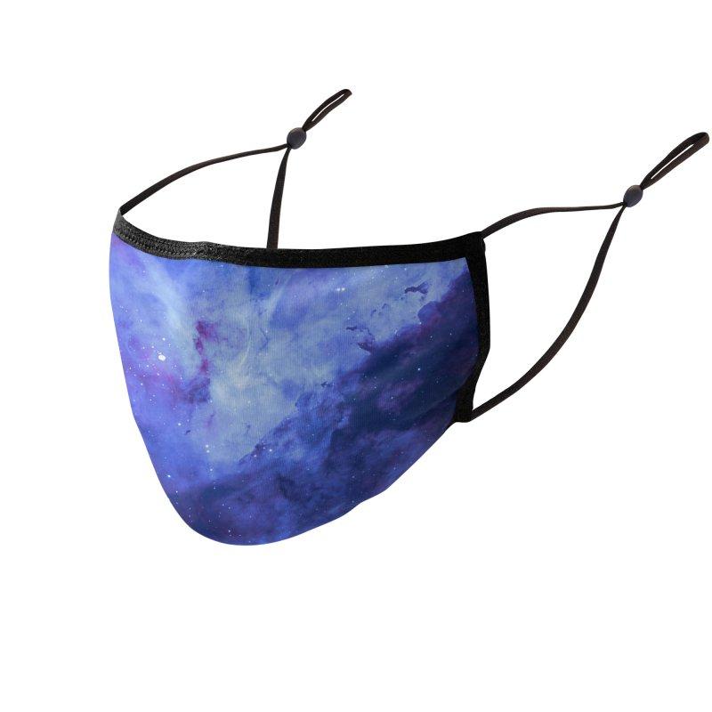 Nebula Royal Accessories Face Mask by Studio Vickn Artist Shop