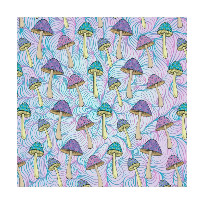 Psychedelic Mushrooms Accessories Face Mask by Studio Vickn Artist Shop