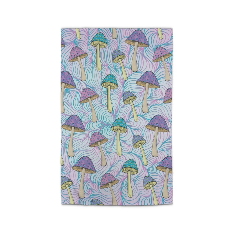 Psychedelic Mushrooms Home Rug by Studio Vickn Artist Shop