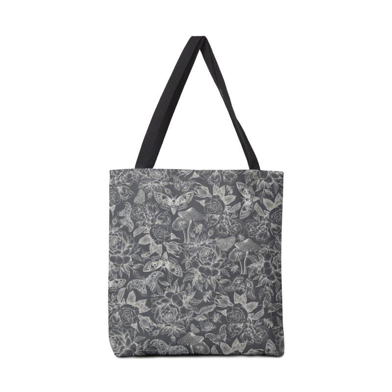 Botanical Pattern Graphite Accessories Bag by Studio Vickn Artist Shop