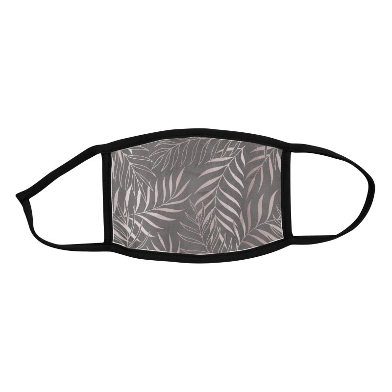 Graphite/Pink Foliage Accessories Face Mask by Studio Vickn Artist Shop