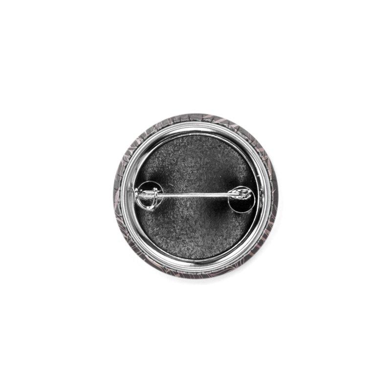 Graphite/Pink Foliage Accessories Button by Studio Vickn Artist Shop