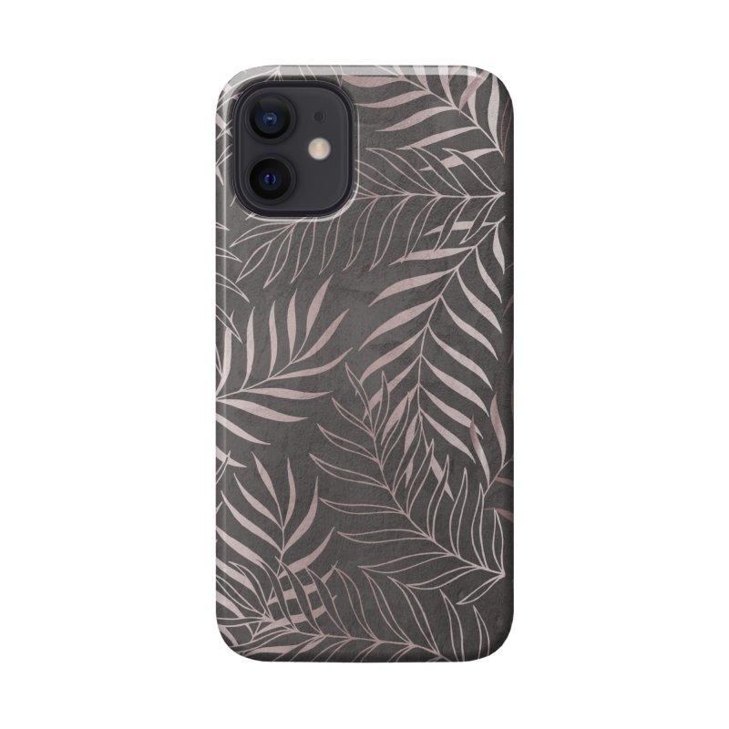 Graphite/Pink Foliage Accessories Phone Case by Studio Vickn Artist Shop