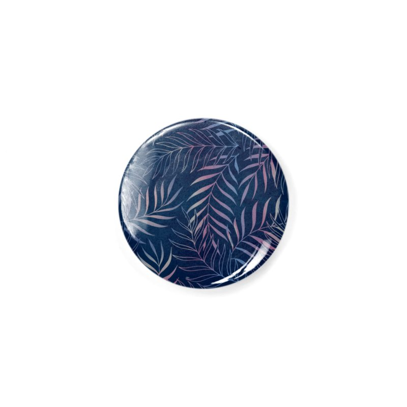 Navy/Rose Foliage Accessories Button by Studio Vickn Artist Shop