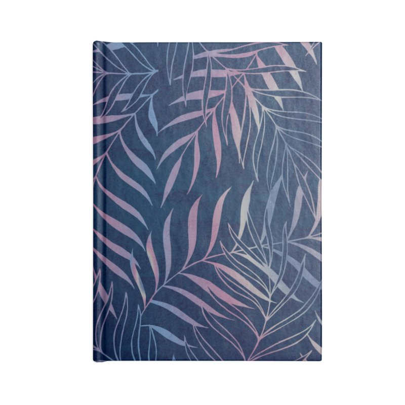 Navy/Rose Foliage Accessories Notebook by Studio Vickn Artist Shop