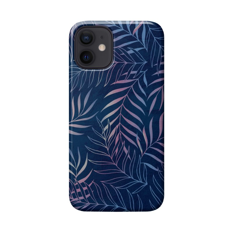 Navy/Rose Foliage Accessories Phone Case by Studio Vickn Artist Shop