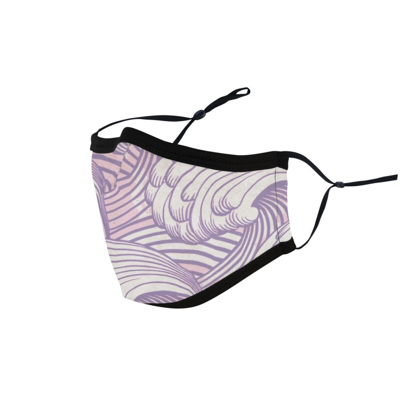 Lilac Waves Accessories Face Mask by Studio Vickn Artist Shop