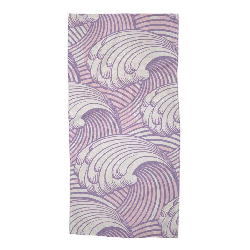 Lilac Waves Accessories Beach Towel by Studio Vickn Artist Shop