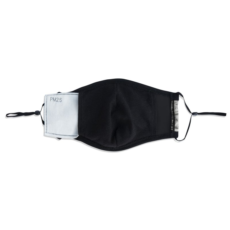 Mistery Garden (grey) Accessories Face Mask by Studio Vickn Artist Shop