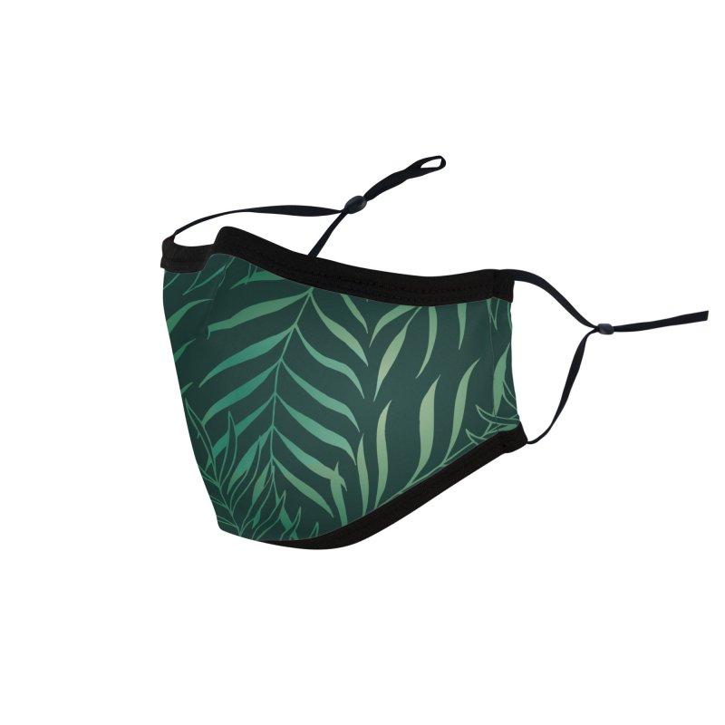 Dark Green Foliage Accessories Face Mask by Studio Vickn Artist Shop