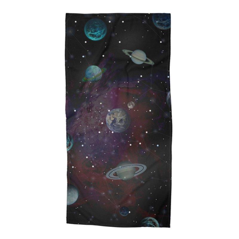 Cosmic Dance II Accessories Beach Towel by Studio Vickn Artist Shop