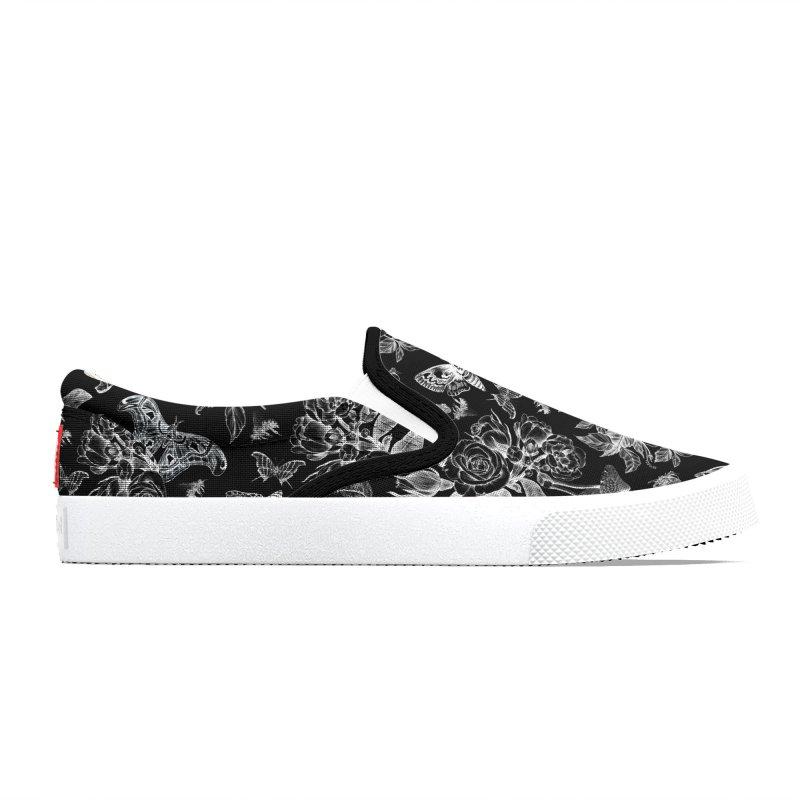 Secret Garden (Black & White) Men's Shoes by Studio Vickn Artist Shop