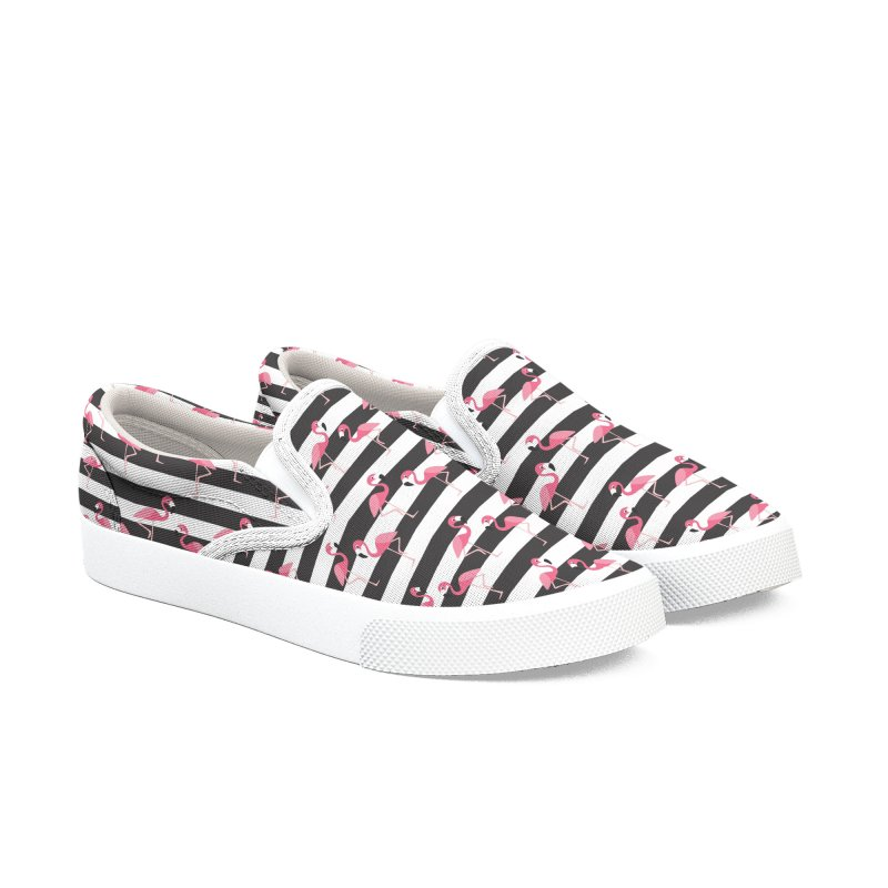 Flamingo Stripes Women's Shoes by Studio Vickn Artist Shop