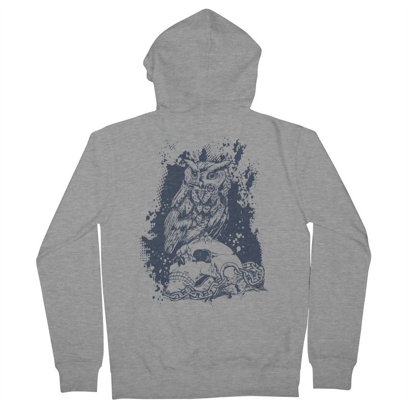 OwlSkull Women's Zip-Up Hoody by studiovii's Artist Shop