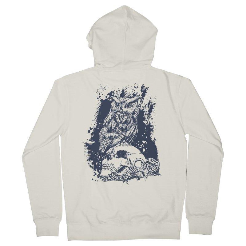 OwlSkull Women's Zip-Up Hoody by studiovii's Artist Shop