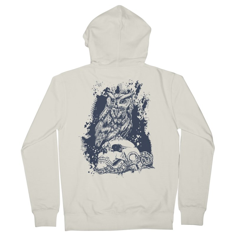 OwlSkull Men's Zip-Up Hoody by studiovii's Artist Shop