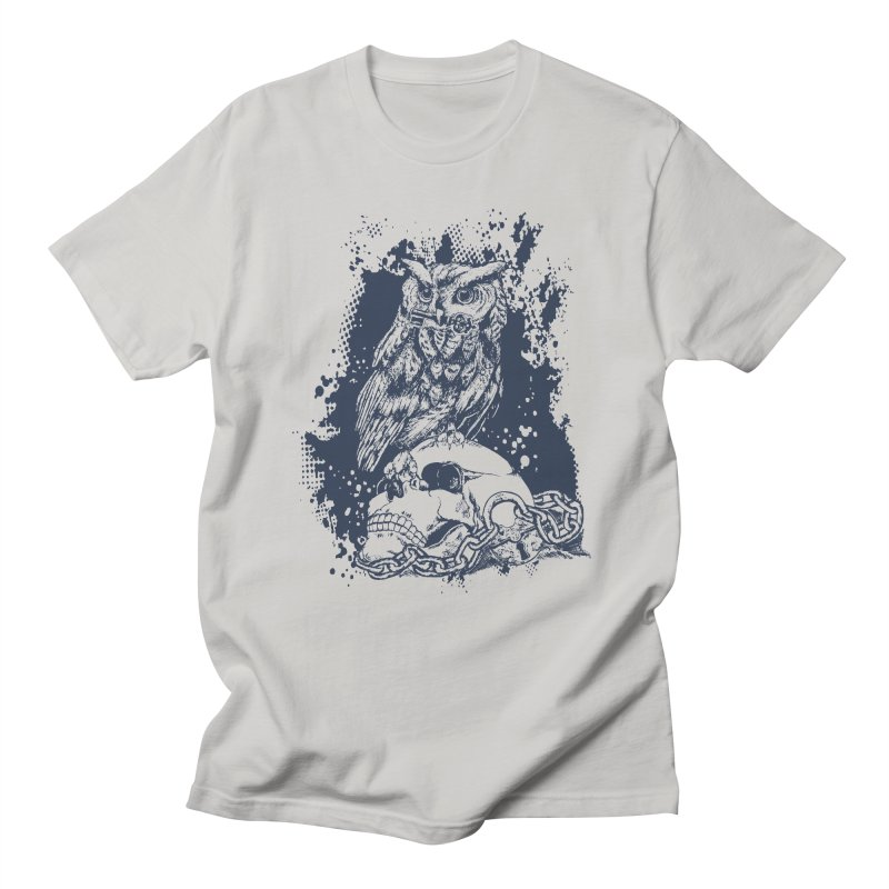 OwlSkull Men's T-shirt by studiovii's Artist Shop