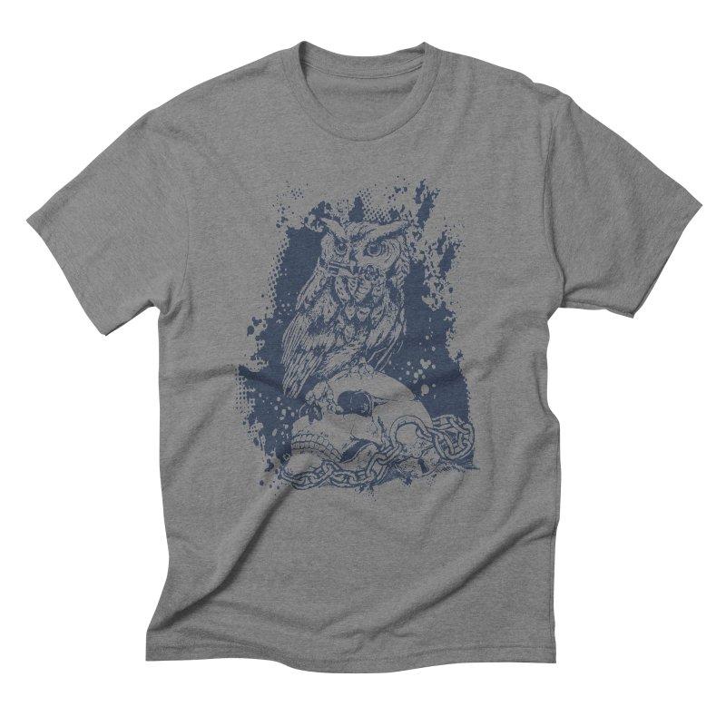 OwlSkull Men's Triblend T-shirt by studiovii's Artist Shop