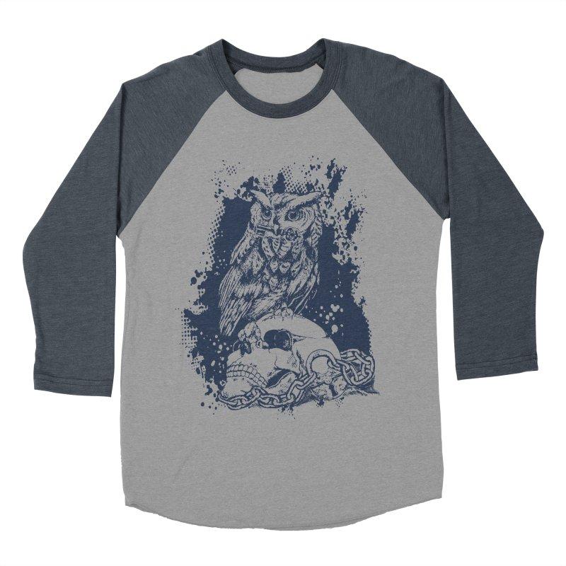 OwlSkull Women's Baseball Triblend T-Shirt by studiovii's Artist Shop