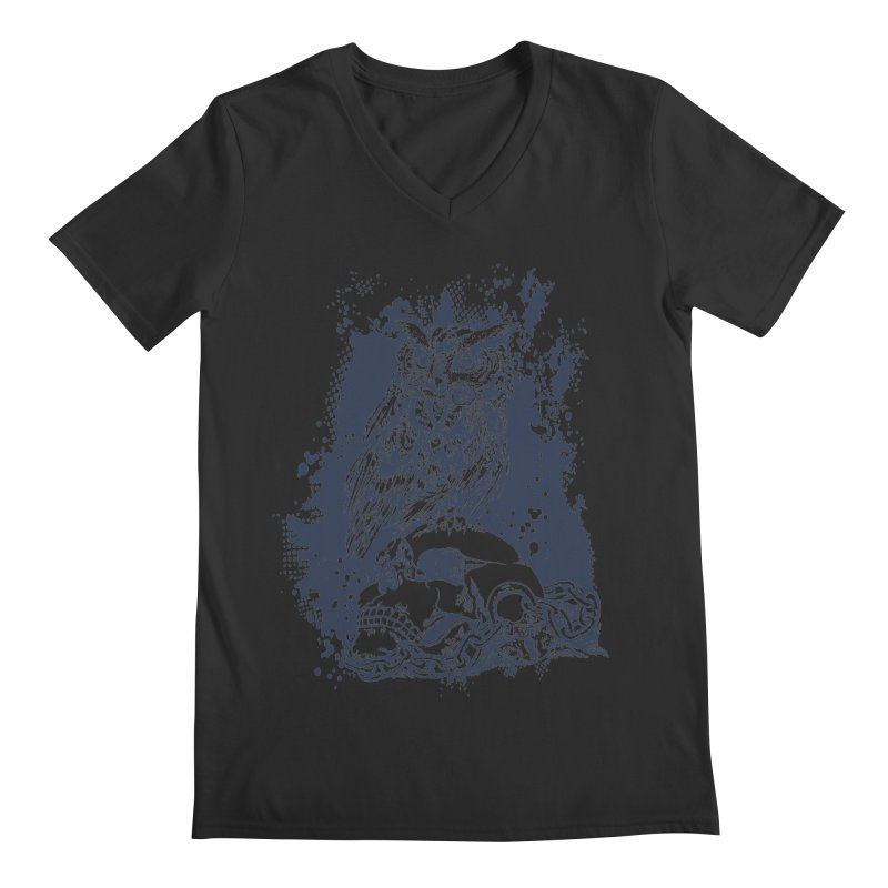 OwlSkull Men's V-Neck by studiovii's Artist Shop