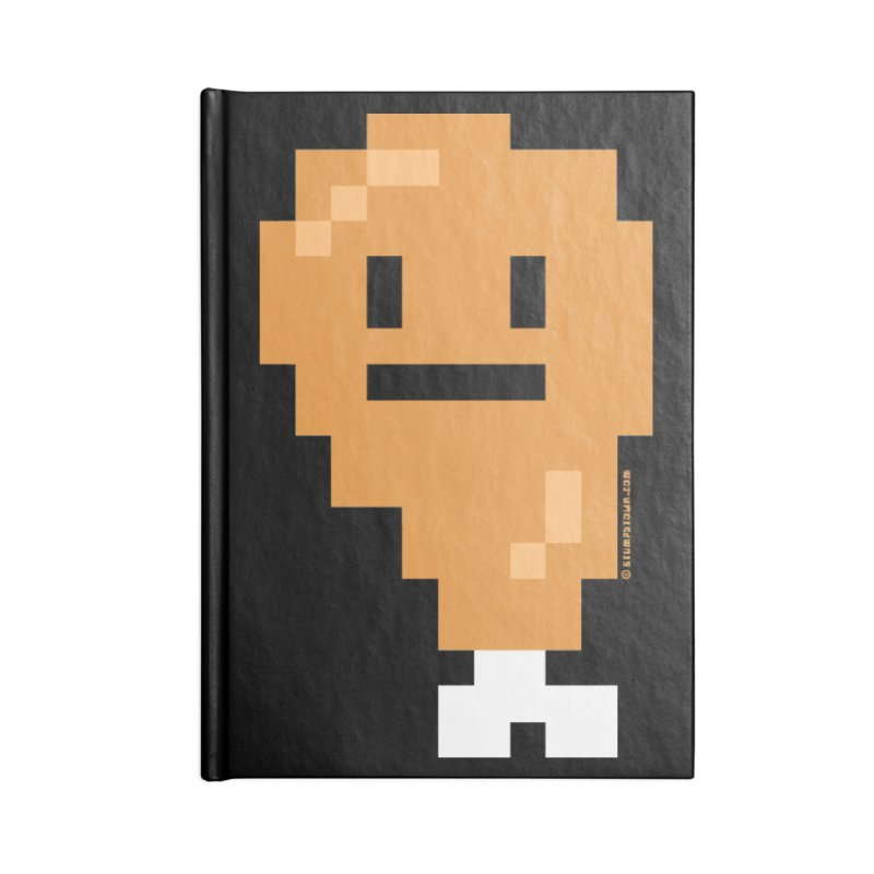 8bit Chicken! Accessories Lined Journal Notebook by stumpytown