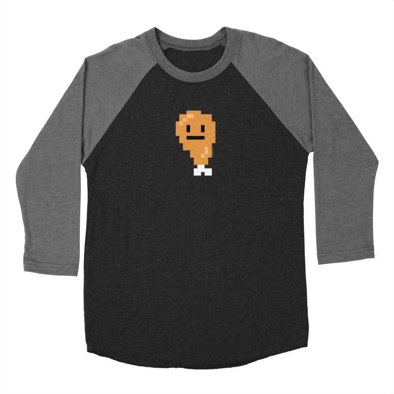 8bit Chicken! Women's Baseball Triblend Longsleeve T-Shirt by stumpytown
