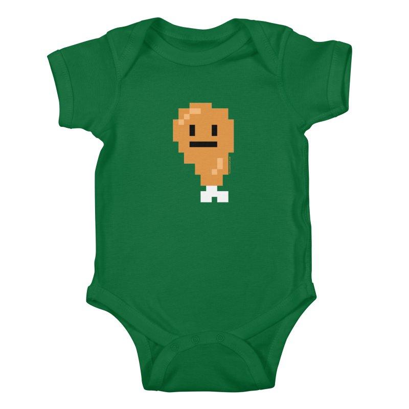 8bit Chicken! Kids Baby Bodysuit by stumpytown