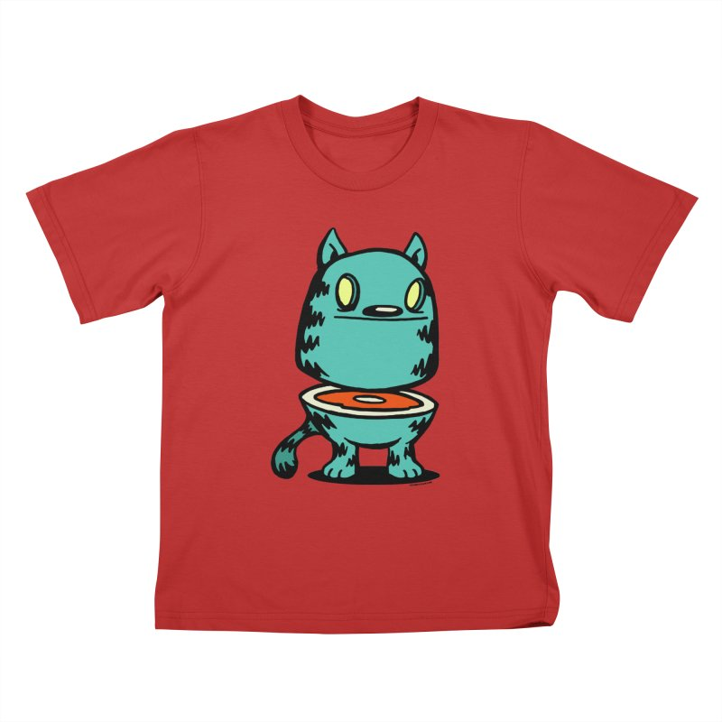 Cat Steak! Kids T-Shirt by stumpytown