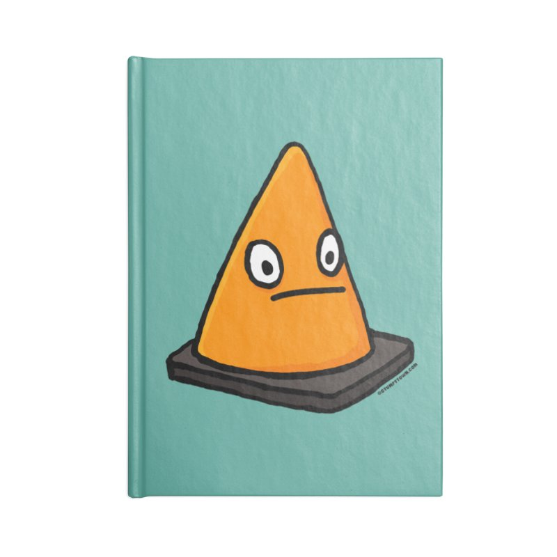 Lone Cone Without a Home Accessories Lined Journal Notebook by stumpytown