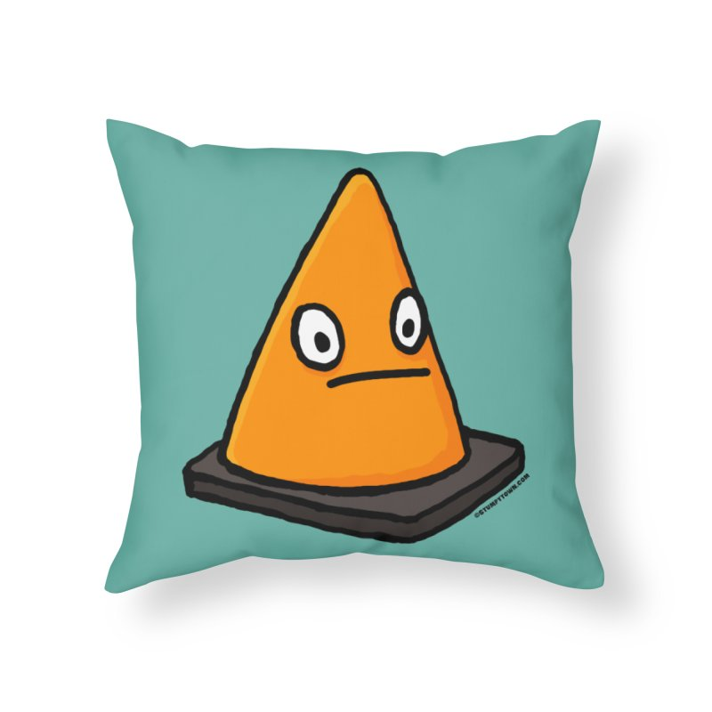 Lone Cone Without a Home Home Throw Pillow by stumpytown