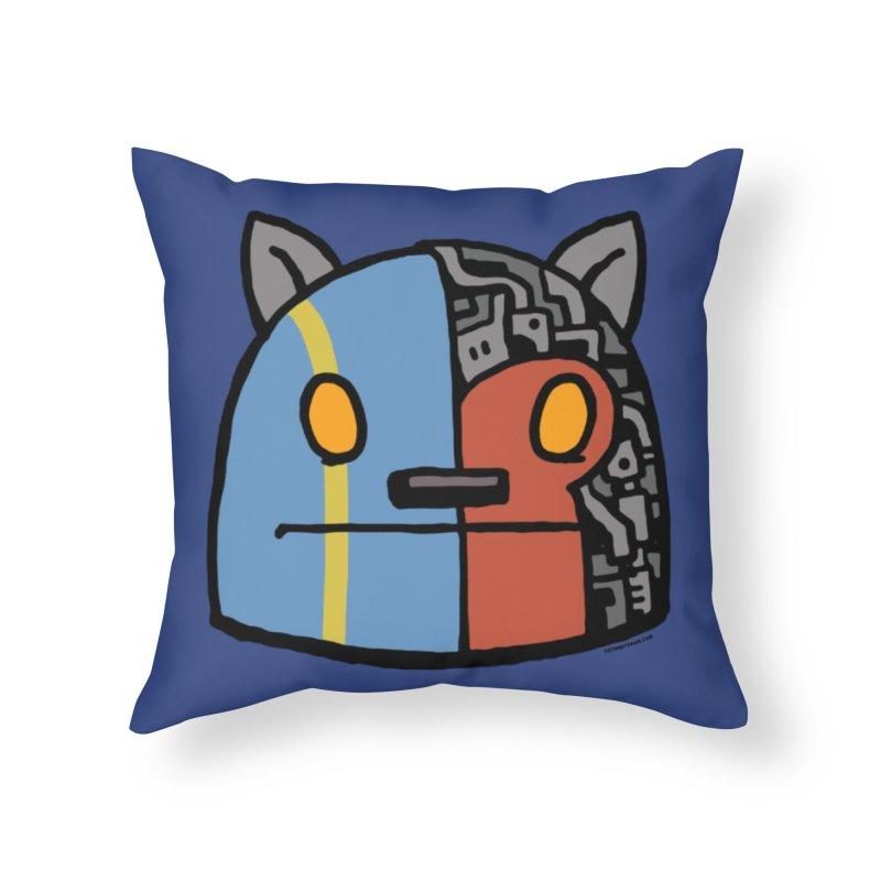 Katkaider Home Throw Pillow by stumpytown
