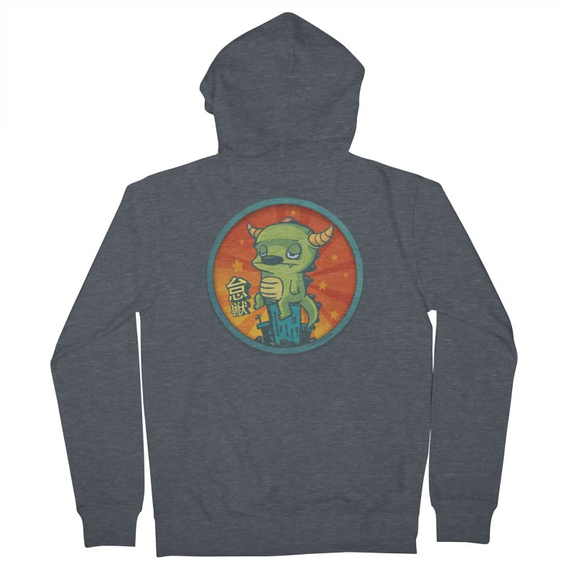 Lazy Kaiju Women's French Terry Zip-Up Hoody by stumpytown