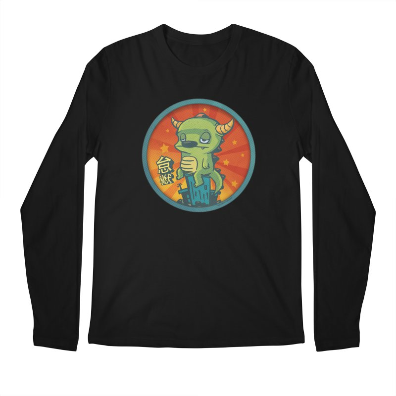 Lazy Kaiju Men's Regular Longsleeve T-Shirt by stumpytown