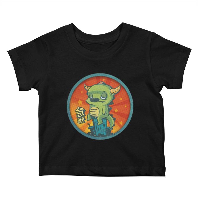 Lazy Kaiju Kids Baby T-Shirt by stumpytown