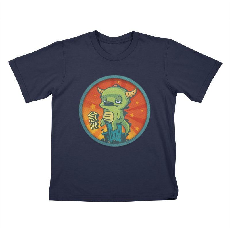 Lazy Kaiju Kids T-Shirt by stumpytown
