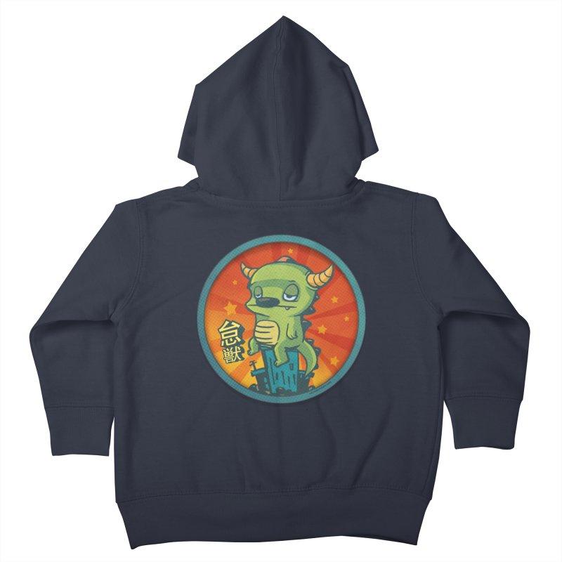 Lazy Kaiju Kids Toddler Zip-Up Hoody by stumpytown