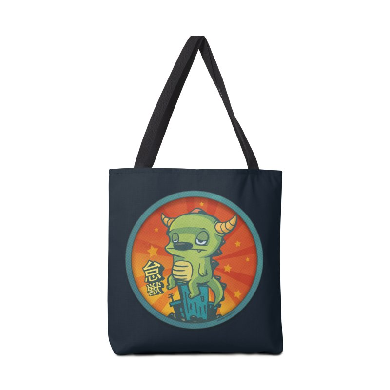 Lazy Kaiju Accessories Tote Bag Bag by stumpytown