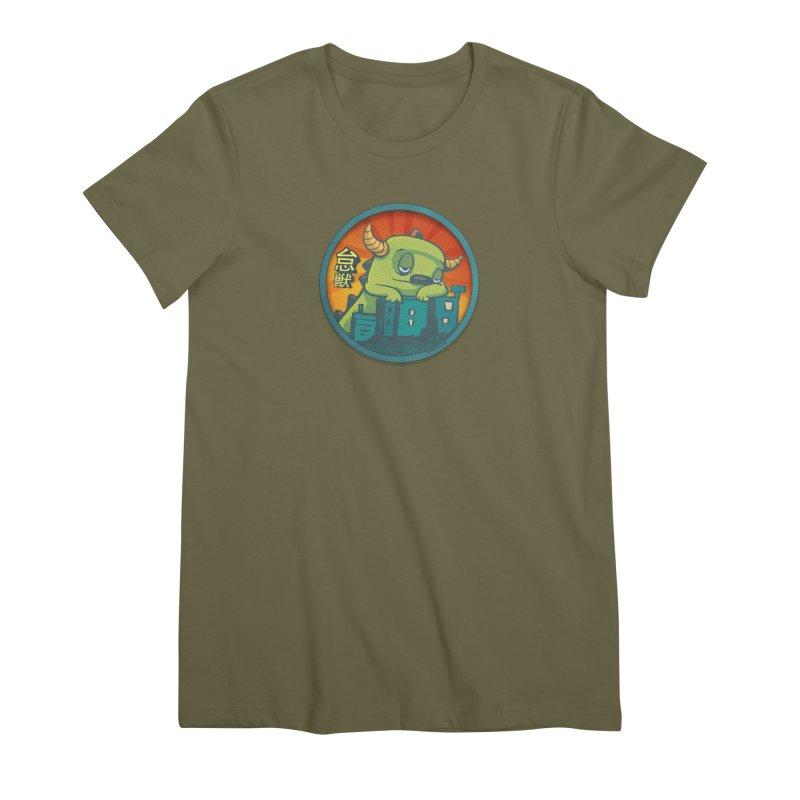 Lazy Kaiju.  Maybe tomorrow. Women's Premium T-Shirt by stumpytown