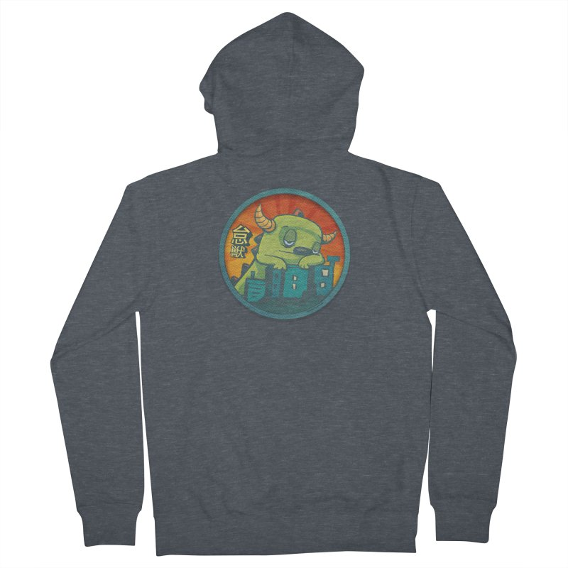 Lazy Kaiju.  Maybe tomorrow. Women's French Terry Zip-Up Hoody by stumpytown