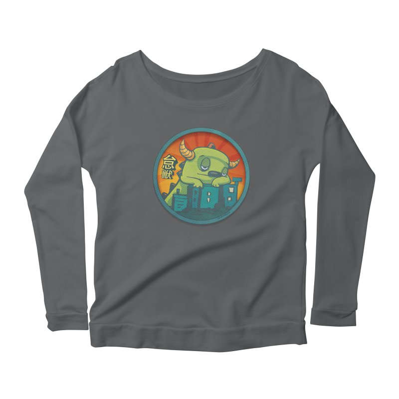 Lazy Kaiju.  Maybe tomorrow. Women's Scoop Neck Longsleeve T-Shirt by stumpytown