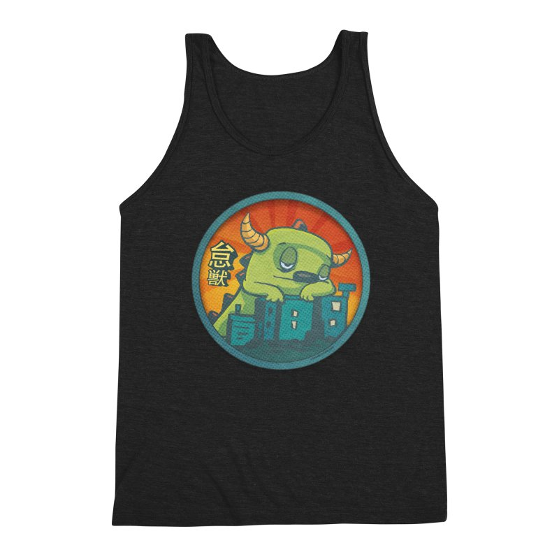 Lazy Kaiju.  Maybe tomorrow. Men's Triblend Tank by stumpytown