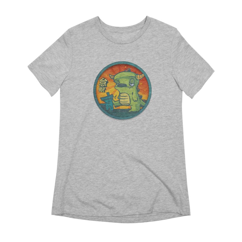 Lazy Kaiju. I'm done for the day. Women's Extra Soft T-Shirt by stumpytown