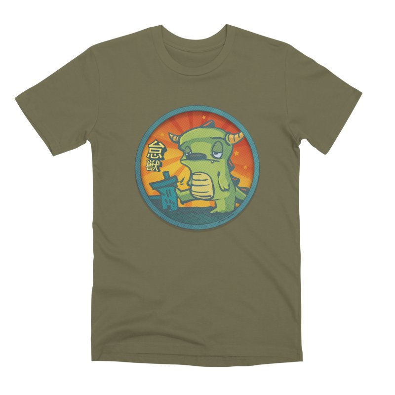 Lazy Kaiju. I'm done for the day. Men's Premium T-Shirt by stumpytown