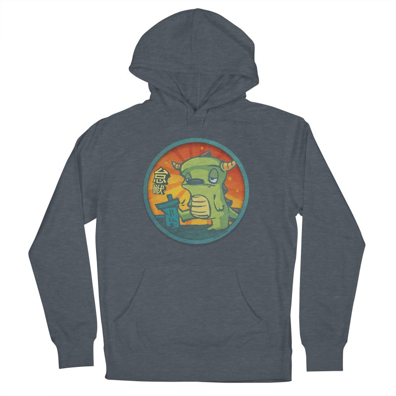 Lazy Kaiju. I'm done for the day. Women's French Terry Pullover Hoody by stumpytown