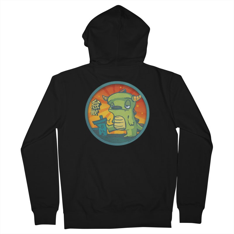Lazy Kaiju. I'm done for the day. Women's French Terry Zip-Up Hoody by stumpytown