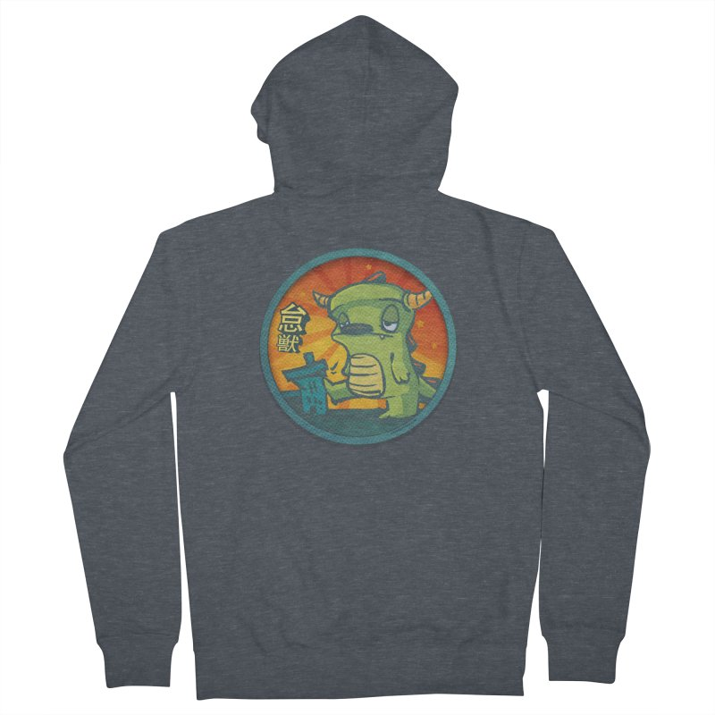 Lazy Kaiju. I'm done for the day. Men's French Terry Zip-Up Hoody by stumpytown