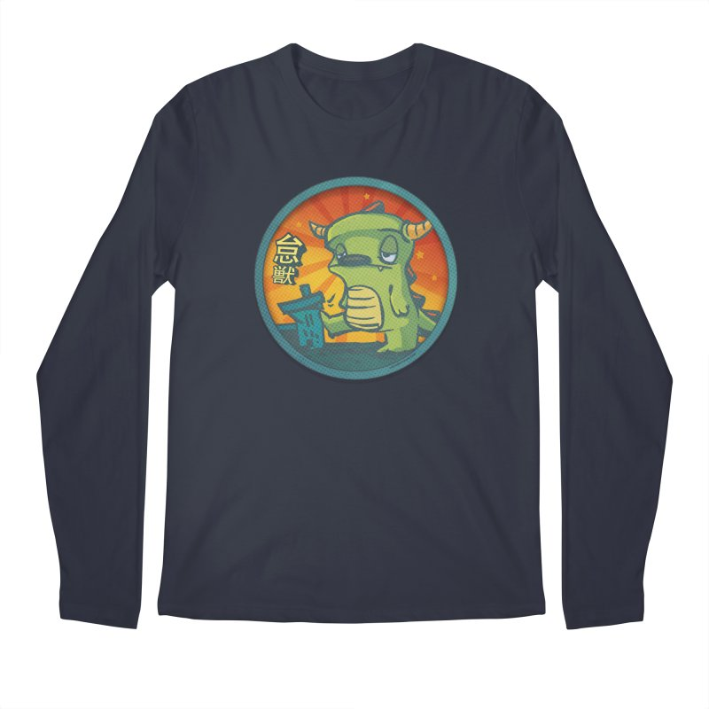 Lazy Kaiju. I'm done for the day. Men's Regular Longsleeve T-Shirt by stumpytown