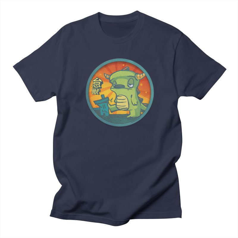 Lazy Kaiju. I'm done for the day. Men's Regular T-Shirt by stumpytown