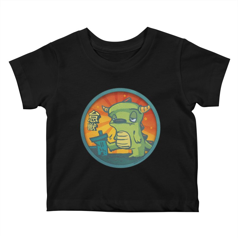 Lazy Kaiju. I'm done for the day. Kids Baby T-Shirt by stumpytown