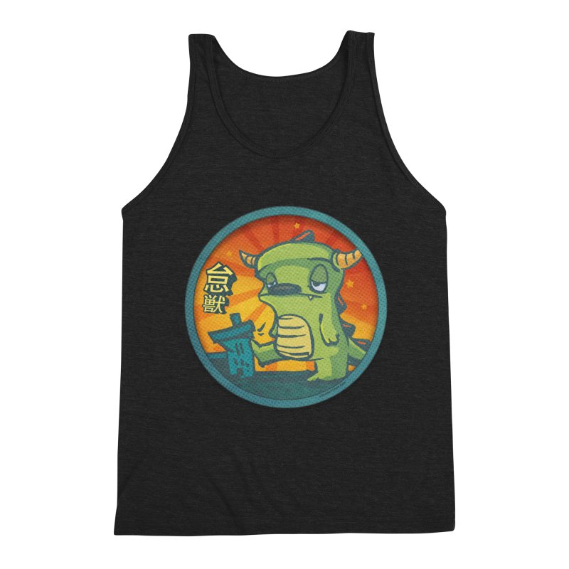 Lazy Kaiju. I'm done for the day. Men's Triblend Tank by stumpytown